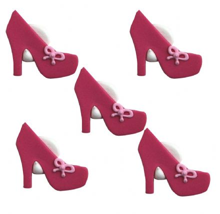 Pink High Heel Shoe Sugar Decorations